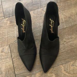 FREE PEOPLE royal heel 6 black leather gorgeous